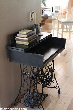 Ingenious ideas for repurposing a treadle sewing machine 9