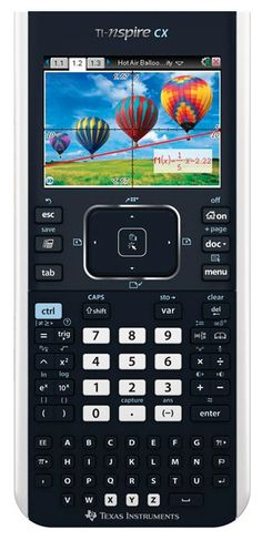 TI NSpire CX: Wow! Color graphing calculator with a touchpad which functions like a computer mouse, includes software and has a wireless net and a rechargeable battery. Approved for standardized tests – PSAT/NMSQT, SAT, AP, and Praxis exams. #Calculator #Graphic_Calculator #TI_Nspire_CX