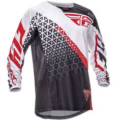 2016 Fly Racing Kinetic Kids Jersey - Trifecta Black White Red
