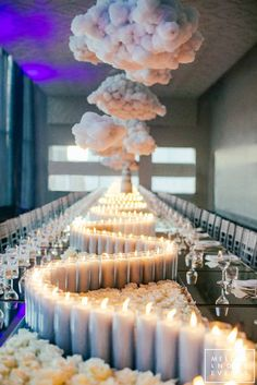 Up In The Clouds Birthday Party - Event Dinner Party Decorations, Birthday Decorations, Wedding Decorations, Wedding Centerpieces, Cloud Party, Wedding Events, Our Wedding, Dream Wedding, Dream Party