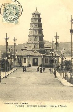 Description  English: Postcard of the Annam Tower created for the 1906 Colonial Exhibition in Marseilles, France.  Date  Source  Image comes from English Wikipedia page  Uploaded from French Wikipedia. (???)    Author  user:Lapaz