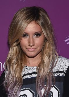 Ashley Tisdale obviously embraced the fact her wedding is over by dying the ends of her blonde locks. The lavender shade makes a nice change from all the pink that's around and it's making us want to experiment...   - Cosmopolitan.co.uk