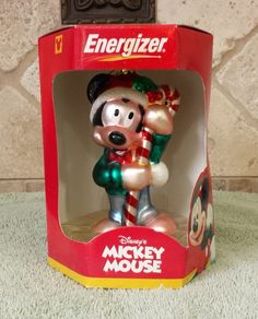 Disney Mickey Mouse Radko-like Ornament NIB Energizer Promotion by KatsVintageTreasures on Etsy