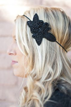 Black Vine Headband by Headbands of Hope. For every headband purchased, one is given to a child with cancer + $1 is donated to cancer research