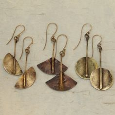 handmade jewelry from the reliquary brass and copper earrings