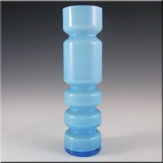 Ryd 1970's Swedish/Scandinavian Blue Glass Hooped Vase - £79.99
