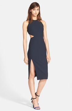 Elizabeth and James 'Giulia' Side Cutout Pencil Dress available at #Nordstrom
