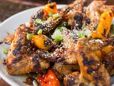 BBQ Chicken Wings with Pineapple-Ginger Teriyaki Sauce recipe from Smollett Eats via Food Network