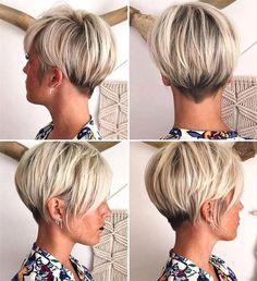 2018 Kurze Frisur - Frisuren Stil Haar - Manue dsz - - New Hair Style Trending Hairstyles, Hairstyles 2018, Hairdos, Concave Bob Hairstyles, Popular Hairstyles, Hair 2018, Great Hair, Hair Today, Pixies