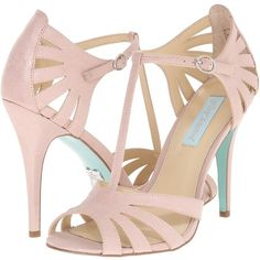 6a61fa5f8f79e0 Blue by Betsey Johnson Tee (Champagne Fabric) High Heels ( 48) ❤ liked