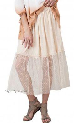 Tullibe Knee Length Tulle Skirt Elastic Waist Lined Mesh Natural Jacket Dress, Dress Skirt, Midi Skirt, Steampunk Dress, Spring Skirts, Vintage Inspired Outfits, Tall Women, Western Outfits, Blazers For Women