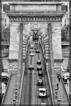 Chain Bridge from an unusual angle. #Budapest #Hungary