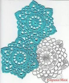 How to Crochet a Solid Granny Square - Crochet Ideas Crochet Snowflake Pattern, Crochet Motif Patterns, Crochet Snowflakes, Crochet Diagram, Crochet Chart, Crochet Squares, Thread Crochet, Crochet Designs, Crochet Stitches