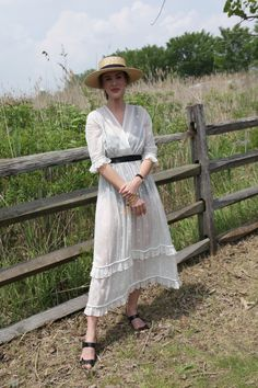 LWD with a straw boater hat.