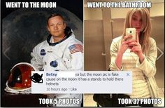The Moon pic is fake... - The dumbest things people ever said online. More: http://pinterest.com/conceptartists/lmao-epic-laughs/