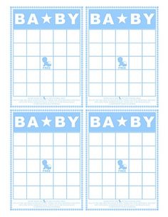baby bingo--three colors--link to baby shower projects