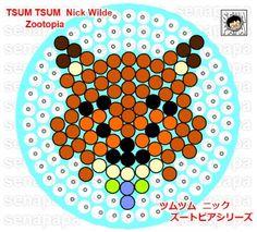 Tsum Tsum Zootopia perler bead pattern