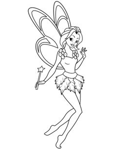 Fairy with Magic Stick Barbie Coloring Pages, Fairy Coloring Pages, Free Coloring Pages, Coloring Sheets, Coloring Books, Pach Aplique, Doll Drawing, Magic Video, Fairy Drawings