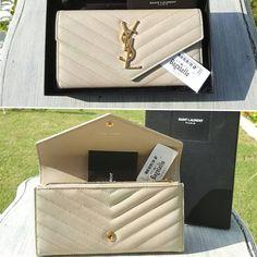 #SaintLaurent Beige Monogram Flap GHW Wallet Condition: Pristine (box/dustbag) Price: AED 1,500  We ship worldwide 🌍✈ #bagatelleboutique #bagatelleysl #saintlaurent #yslbags #clutch #yslclutch #shoes #saintlaurent #shopping #ootd #onlineshopping #saudiarabia #trend #fashio #ootn #fashionista #worldwide #original #preloved #دبي#شوز Folow @fashionbookface   Folow @salevenue   Folow @iphonealiexpress   ________________________________  @channingtatum @voguemagazine @shawnmendes…