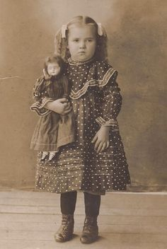 Girl With Her Doll Cabinet Card
