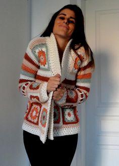 Saco Cuadrados de Dessiresencia en Abrigos > Sweaters - Me Gusta Tutti