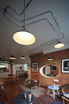 Style industrielle, luminaire apparant #luminaires #industrielle