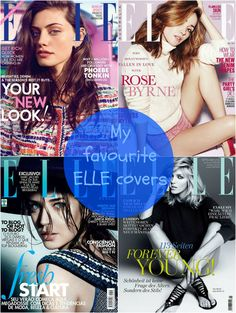 My favourite ELLE covers // Falling for A #Elle #covers #magazine http://fallingforablog.blogspot.com.es/2016/04/my-favourite-elle-covers.html