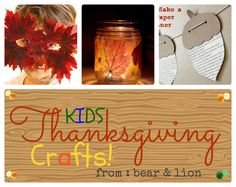 thanksgiving and fall crafts! such fun!
