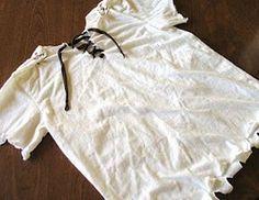 DIY Pirate Shirt tutorial how to cut a t-shirt