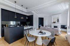architecture d'intérieur et design d'un appartement typiquement parisien