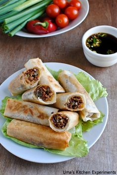 Vegetable Spring Rolls - these can't be thaaat many points if you dont use too much oil? maybe pan sear and then bake is the way to go...i must try them!