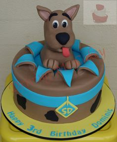 Scooby Doo birthday cake. Find me on Facebook (Driving Me Cakey) for more photos of my work or contact me via e-mail, drivingmecakey@gm... to enquire about an order. Located Fairview Park, South Australia.