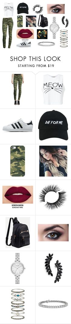 """Student"" by castrobia on Polyvore featuring True Religion, Miss Selfridge, adidas Originals, Nasaseasons, Casetify, Smashbox, Kate Spade, Cristabelle, Accessorize and Blue Nile"