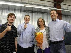 PC Bill Walker wins Bruce-Grey-Owen Sound - From left: Zach, Benjamin, Michaela and Bill Walker celebrate his re-election in Owen Sound.