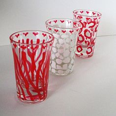hand painted shot glasses - Google Search