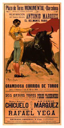 Plaza de Toros Monumental, Barcelona, 1936 Giclee Print at AllPosters.com