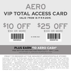 Pinned August 26th: $10 off $50 & more at #Aeropostale #coupon via The #Coupons App
