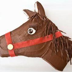 Sweet! How to make a horse birthday cake with Fruit by the Foot. Easy, step-by-step recipe, diagrams and pictures