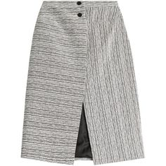 Carven Graphic Stripe Wrap Skirt ($215) ❤ liked on Polyvore featuring skirts, multicolored, panel skirt, carven skirt, white knee length skirt, knee length a line skirt and colorful skirts
