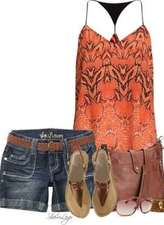 Summer Outfit that I would wear, even if it's orange.
