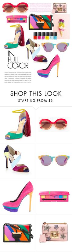 """""""summer brights!"""" by egchee ❤ liked on Polyvore featuring Christian Louboutin, Max&Co., L.K.Bennett, TOMS, B Brian Atwood, Loewe, Gucci, Summer, colorful and trend"""