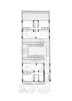 Image 14 of 17 from gallery of Oriente 7 16 & Accidental. Craftsman Floor Plans, Basement Floor Plans, House Floor Plans, Home Design Plans, Plan Design, Building Exterior, Building Design, Small Appartment, Casa Patio