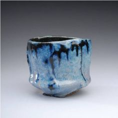Artist: Jeff Shapiro, Title: Blue Teabowl  - click on image to enlarge