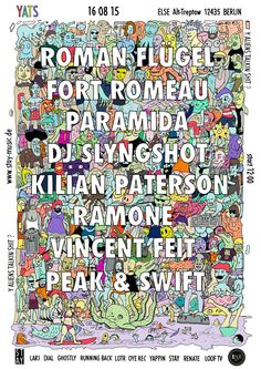RA Tickets: Yats /w. Roman Flügel, Fort Romeau, Paramida and Many More at Else, Berlin