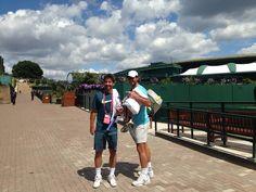 Camino al entrenamiento con Marc López... Hoy no hay nadie!   On our way to practice with Marc López… There's no one here today! (Sunday 29-06-2014)