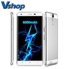 원래 oukitel k6000 프로 4 그램 휴대 전화 6.0 안드로이드 3 기가바이트 ram 32 기가바이트 ROM 옥타 코어 1080 마력 16MP 카메라 6000 미리암페르하우어 5.5 인치 휴대 전화