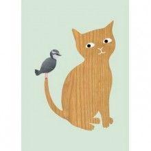 Affiche Chat et Oiseau - La Folle Adresse