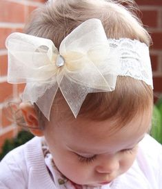 Product Image Baby, girl, lady white or ivory or pink christening flower girl bridal fascinator organza