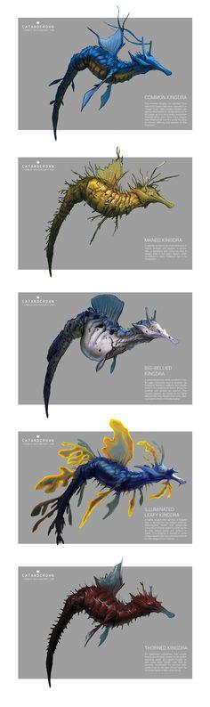 Pokemon Morphology - Kingdra by catandcrown on DeviantArt