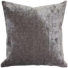 Pillow Décor - Venetian Velvet Throw Pillow (Square - cloud gray - - Traditional/Modern & Contemporary), Grey - 17 x 17